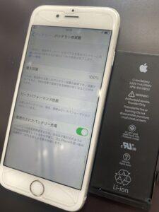 iPhoneのバッテリー交換後の状態