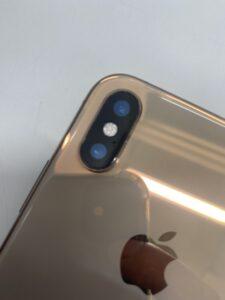 iPhoneXSカメラカバーガラス修理後