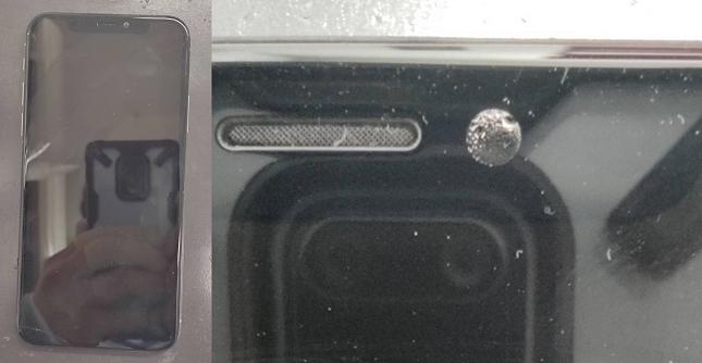 水没してカメラが水滴で曇ったiPhone