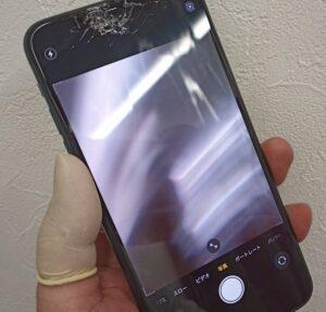 インカメラの撮影風景がぼやけて映るiPhone11ProMax画像
