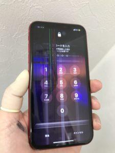 液晶画面に縦線が現れたiPhone11