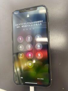 iPhoneXS画面修理後