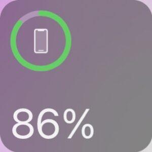 バッテリー残量のウィジェト