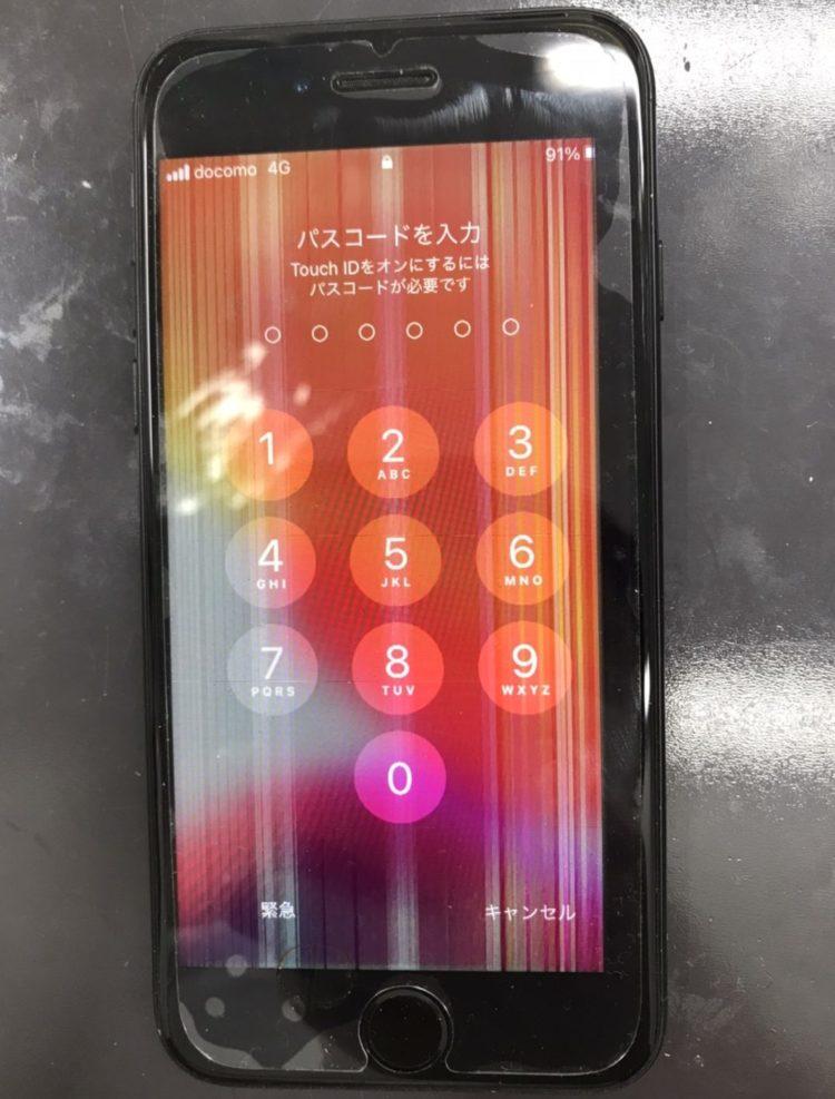 画面全体にノイズがあるiPhone7