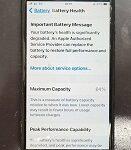 iPhone7のバッテリー劣化!