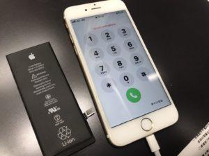 iPhone6sの電池を交換したところ