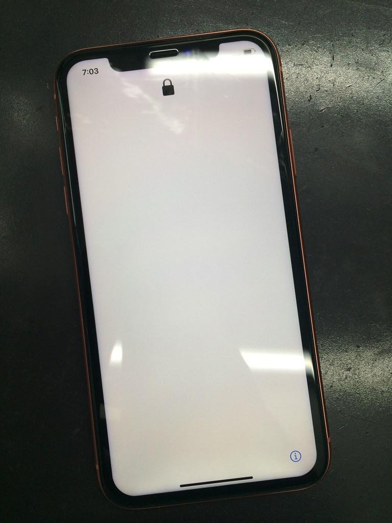画面修理でタッチ出来るようになったiPhoneXR